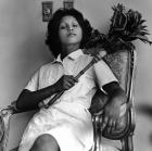 Sandra Eleta (Panamanian, b. 1942) Edita (la del plumero), Panamá (Edita [the one with the feather duster], Panama) (1977) from the series La servidumbre (Servitude)(1978-79),Black-and-white photograph,48.3 × 48.3 cm Courtesy of Galería Arteconsult S.A., Panama. © the artist.