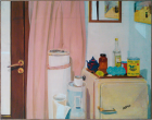 Florina Lăzărescu (Coulin),  Interior , 1970, Oil on canvas, Courtesy of the artist