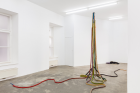 Liesl Raff, Liaisons, 2021, (Detail) latex, rope, metal, dimensions variable