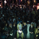 Mohammed Bin Salman and Donald Trump inaugurate The Global Center for Combatting Extremist Ideology in Riyadh, 2017
