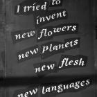 Graffiti, 2020, quoting Arthur Rimbaud's A Season in Hell , 1873.