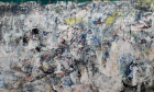 Asger Jorn  Stalingrad, No Man's Land, or the Mad Laughter of Courage,  1957–1960, 1967, 1972 Oil on canvas 296 x 492 cm © Donation Jorn, Silkeborg / Bildrecht, Vienna 2016. Photo: Lars Bay