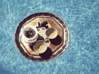 Tea Ceremony in pool, Mallorca, 2016; Image credit: Thirsty Moon