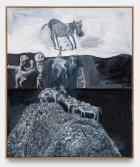 Tobias Pils, The Juggling , 2021. Oil on canvas, 236 × 198 cm. Courtesy: Capitain Petzel, Berlin